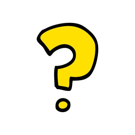 punto interrogativo scarabocchio cartone animato Vettoriali