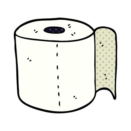 cartoon doodle toilet roll Illustration
