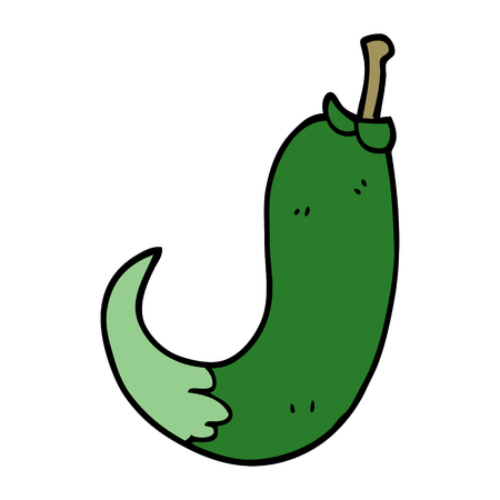 cartoon doodle chilli pepper