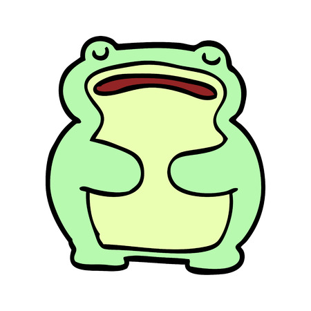 cartoon doodle frog Banque d'images - 110858374