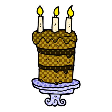 cartoon doodle chocolate cake Stock Vector - 110858352