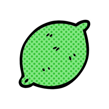 cartoon doodle lime fruit