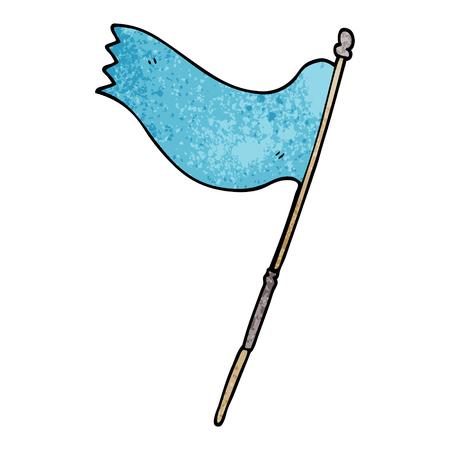 cartoon doodle of a blue flag Banque d'images - 110894499