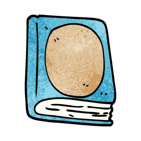 cartoon doodle reading book
