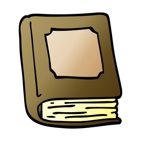 cartoon doodle closed book