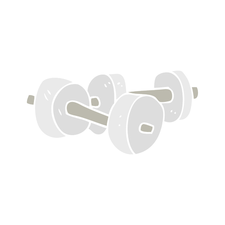 flat color illustration of dumbbells Ilustrace