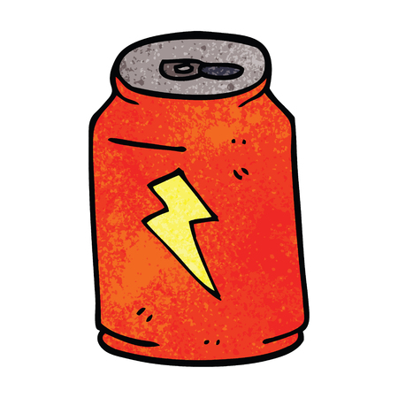 cartoon doodle energy drink