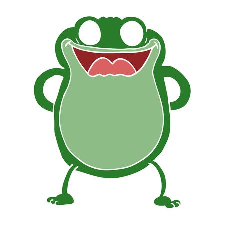 cartoon doodle frog Illustration