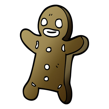 cartoon doodle gingerbread man