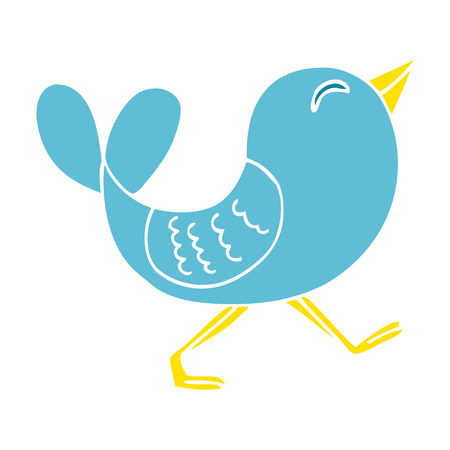 cartoon doodle bluebird