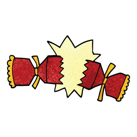cartoon doodle cracking cracker Illustration