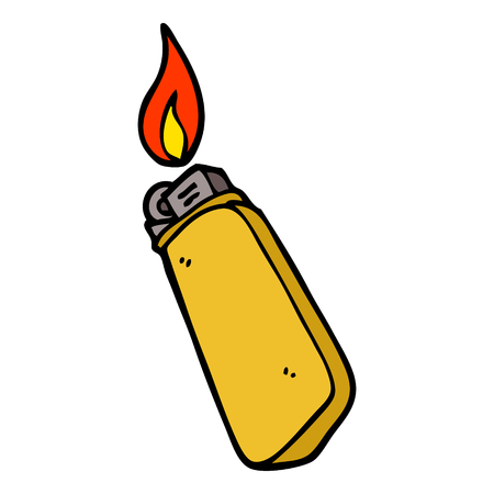 briquet jetable doodle dessin animé Vecteurs