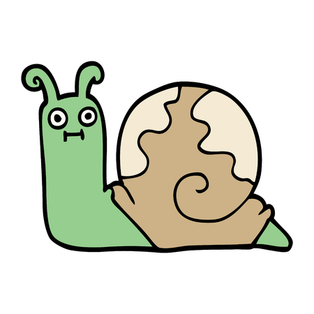 cartoon doodle snail Stock Illustratie