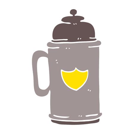 cartoon doodle traditional beer tankard