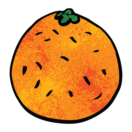 cartoon doodle citrus orange
