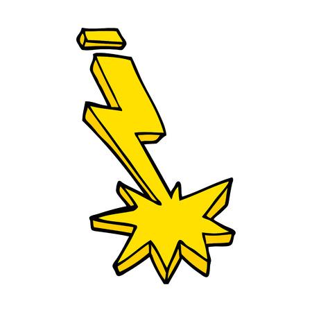 cartoon doodle thunder bolt Reklamní fotografie - 110858468