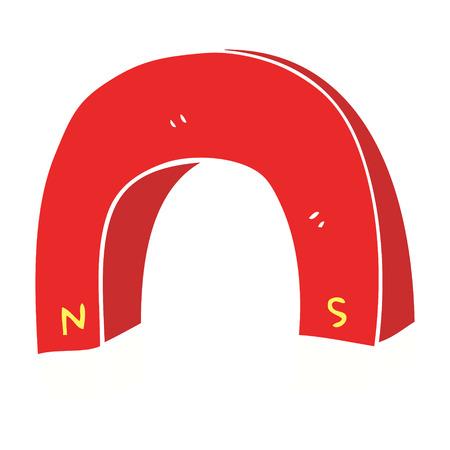 flat color illustration of magnet