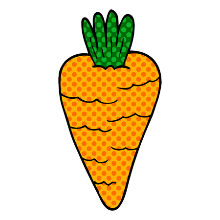 cartoon doodle carrot