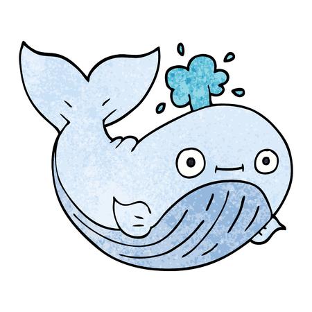 cartoon doodle sea whale Standard-Bild - 110894582