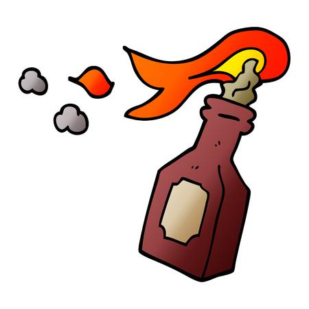 cartoon doodle molotov cocktail