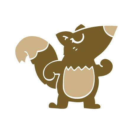 cartoon doodle confident squirrel
