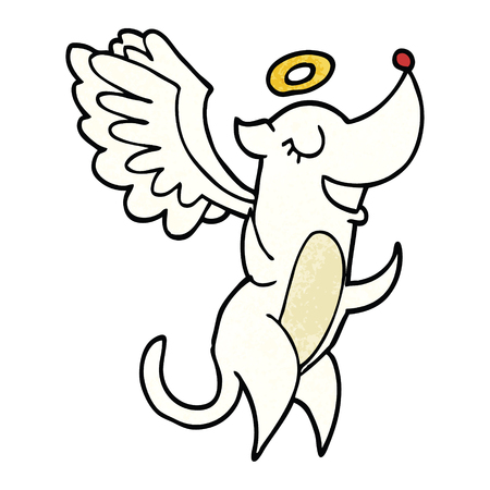 cartoon doodle angel dog Standard-Bild - 110894630