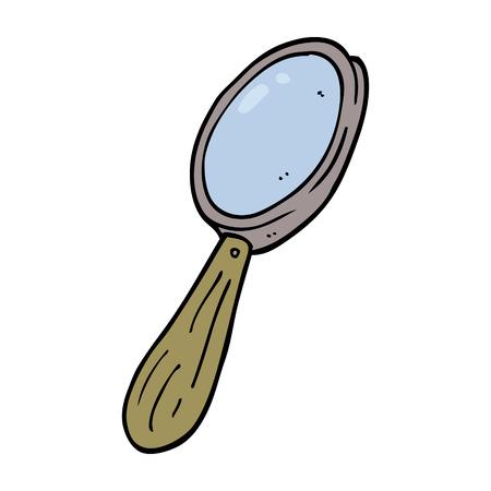 cartoon doodle magnifying glass Illusztráció