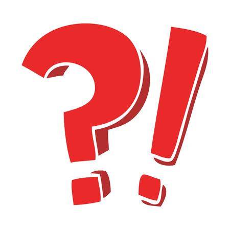 punto interrogativo e punto esclamativo scarabocchio dei cartoni animati