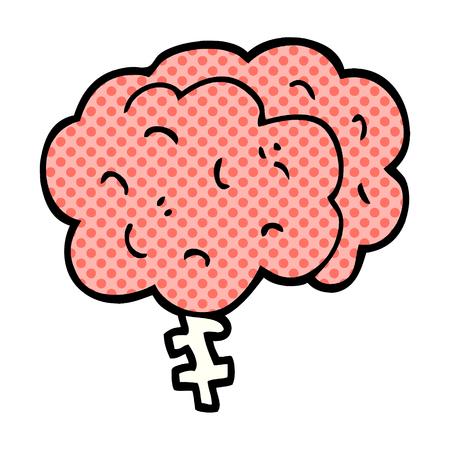 cartoon doodle brain