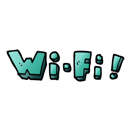 cartoon doodle wi fi Stock Vector - 110894652