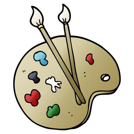 cartoon doodle artist palette Reklamní fotografie - 110894658