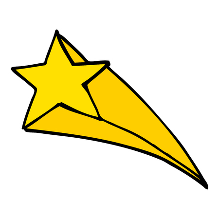 cartoon doodle shooting star