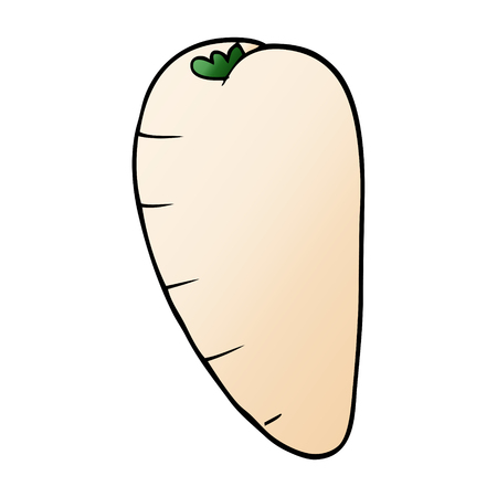 cartoon doodle root vegetable Illustration