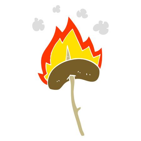 cartoon doodle of a hot dog