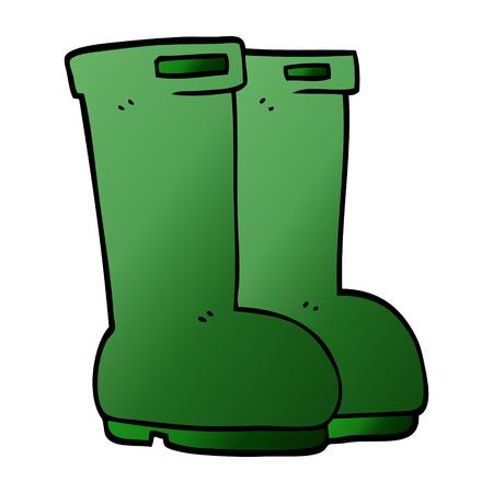 cartoon doodle wellingtons Standard-Bild - 110895270