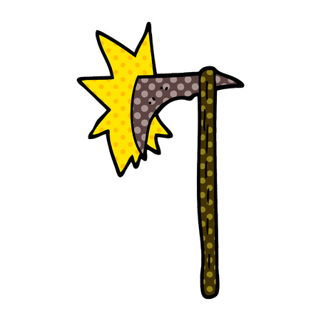 cartoon doodle viking axe