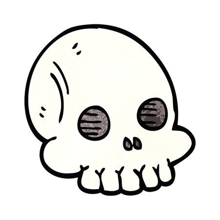 cartoon doodle halloween skull