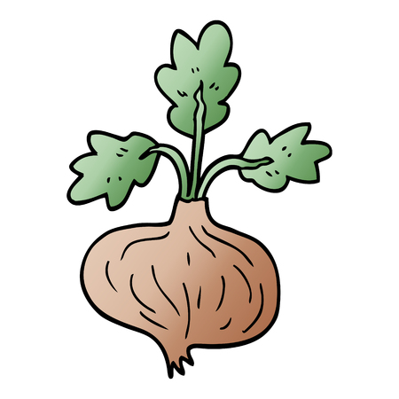 cartoon doodle old onion
