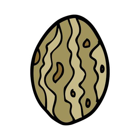 cartoon doodle almond nut Illustration