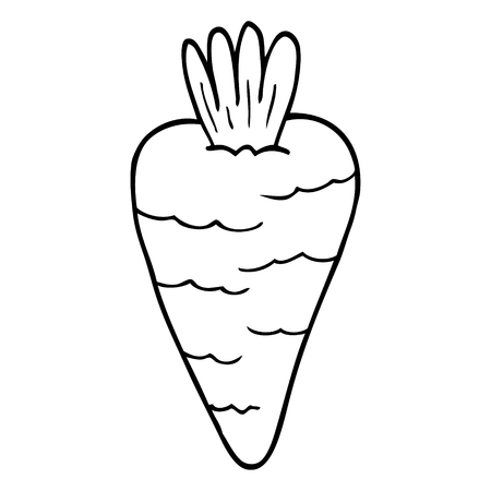 line drawing cartoon carrot