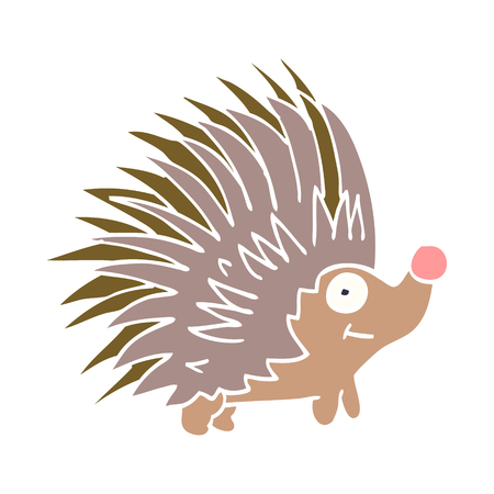 cartoon doodle spiky hedgehog