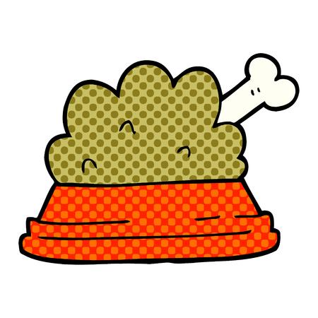 cartoon doodle pet food