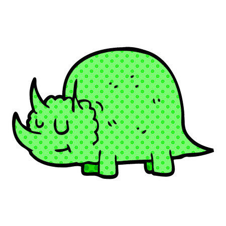 cartoon doodle prehistoric dinosaur Illustration