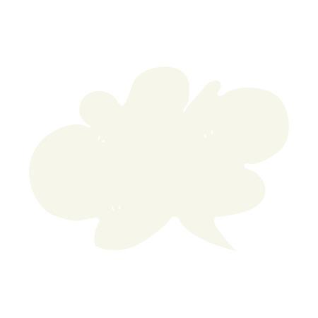 flat color illustration of cloud speech bubble