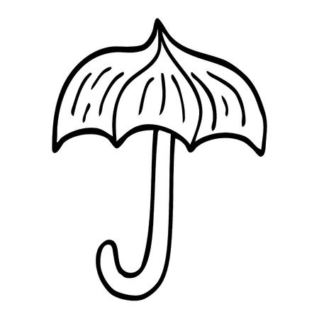 line drawing cartoon umbrella tattoo symbol Ilustrace