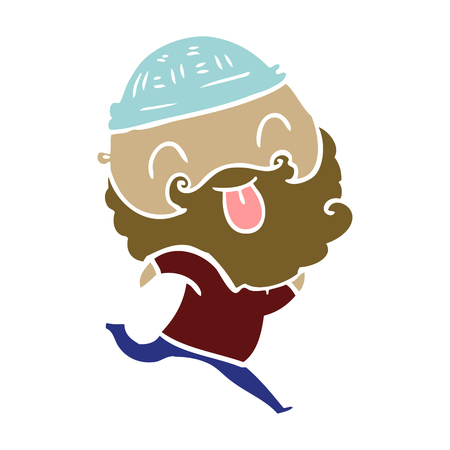 running man with beard sticking out tongue