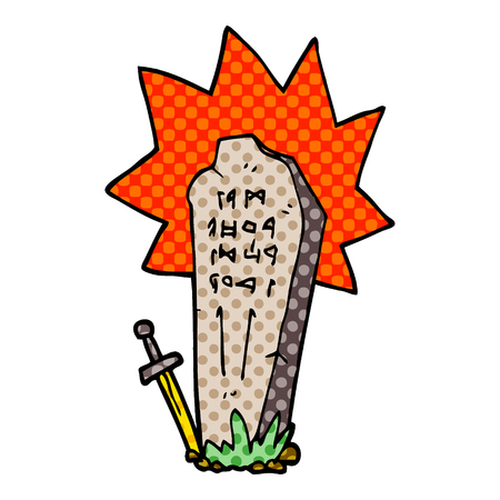 cartoon doodle heros grave Illustration