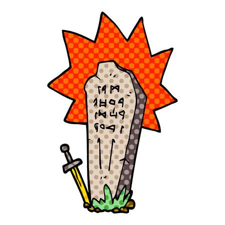 tomba di eroi scarabocchi dei cartoni animati Vettoriali