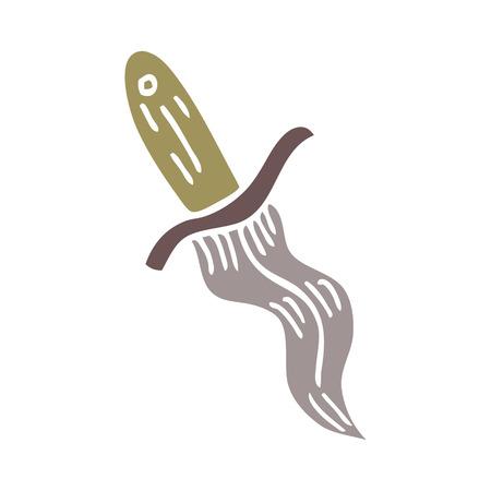 cartoon doodle tattoo dagger symbol 写真素材 - 110925116