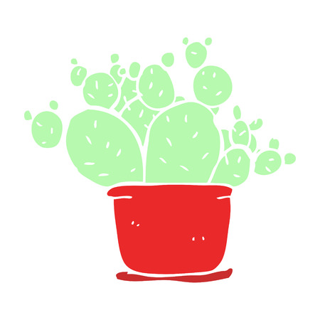 flat color illustration of cactus